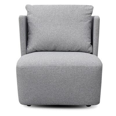 Evie Fabric Lounge Chair, Light Grey