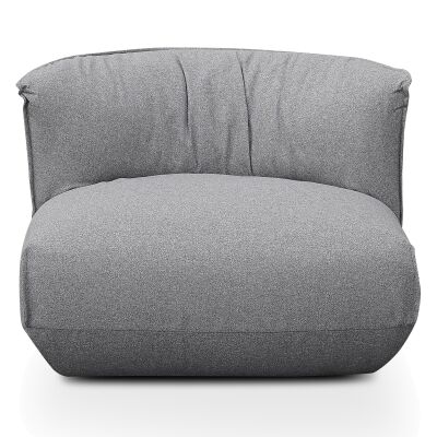 Netley Fabric Pouf Lounge Chair, Light Grey
