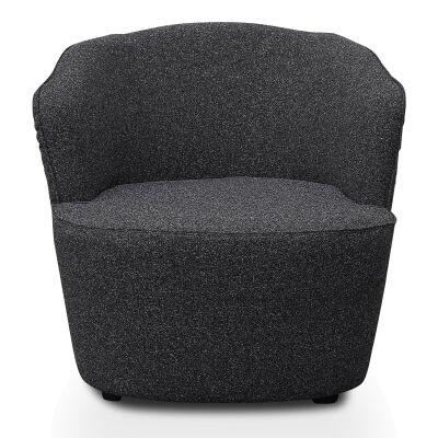 Halloran Fabric Lounge Armchair, Dark Grey