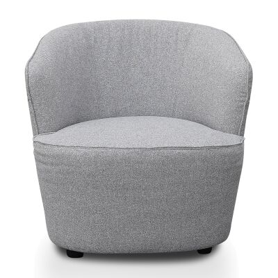 Halloran Fabric Lounge Armchair, Light Grey