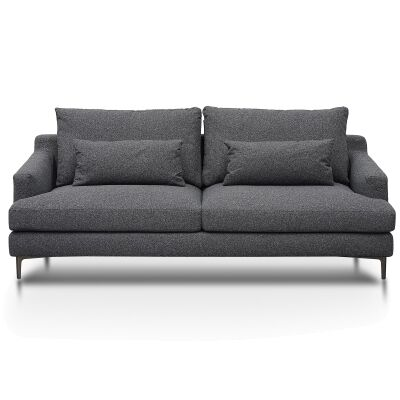 Bennett Fabric Sofa, 3 Seater, Dark Grey