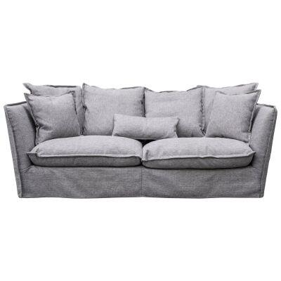Diaz Fabric Slipcover Sofa, 3 Seater, French Grey