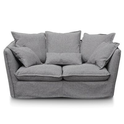 Diaz Fabric Slipcover Sofa, 2 Seater, French Grey