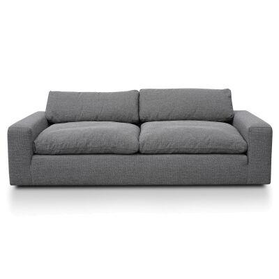 Wetherill Fabric Sofa, 3 Seater, Graphite Grey
