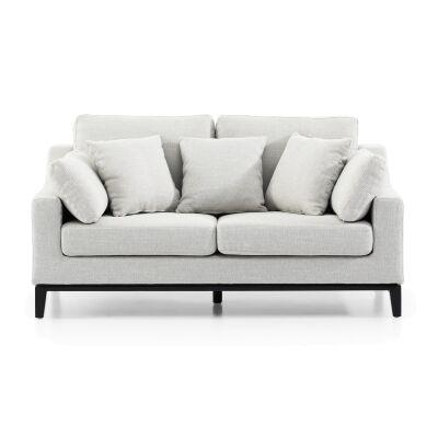 Merino Fabric Sofa, 2 Seater, Light Grey