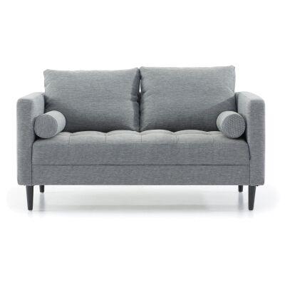 Keral Fabric Sofa, 2 Seater, Blue Grey