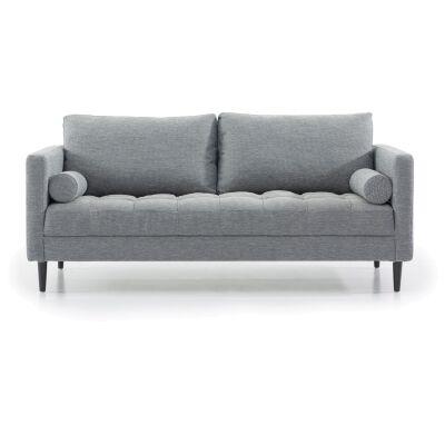 Keral Fabric Sofa, 3 Seater, Blue Grey
