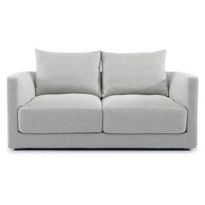 Davoren Fabric Sofa, 2 Seater, Light Grey