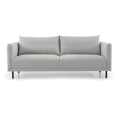 Detrick Fabric Sofa, 3 Seater, Light Grey