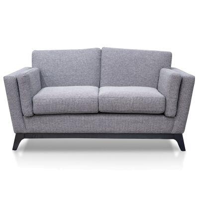 Buxton Fabric Sofa, 2 Seater, Graphite Grey