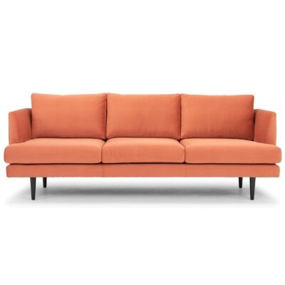 Mina Fabric Sofa, 3 Seater, Sunburnt Orange