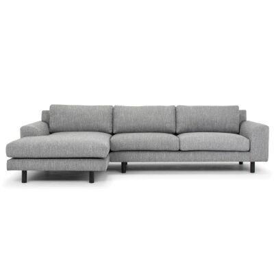 Sabo Fabric Corner Sofa, 2 Seater with LHF Chaise, Dark Grey