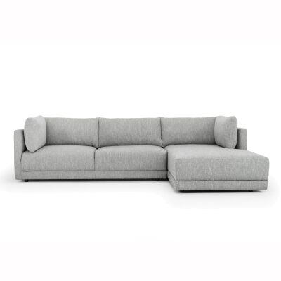 Hensley Fabric Corner Sofa, 2 Seater with RHF Chaise, Graphite Grey