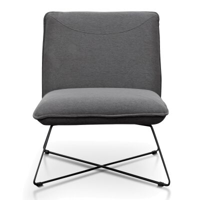 Knoxville Fabric Lounge Chair, Dark Grey