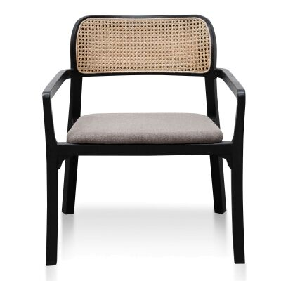 Karns Wooden Armchair, Black / Taupe