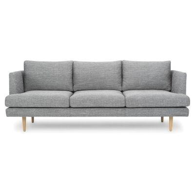 Mina Fabric Sofa, 3 Seater, Graphite Grey