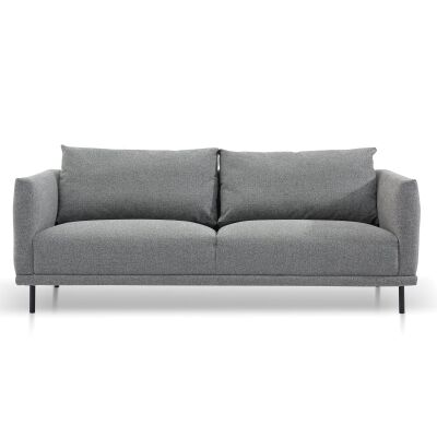 Detrick Fabric Sofa, 3 Seater, Rock Grey