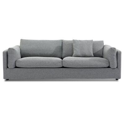 Athol Fabric Sofa, 3 Seater, Graphite Grey