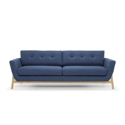 Greenland Fabric 3 Seater Sofa, Navy