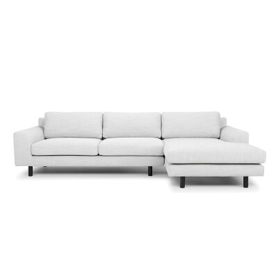 Sabo Fabric 2 Seater Corner Sofa with Right Hand Facing Chaise, Light Grey