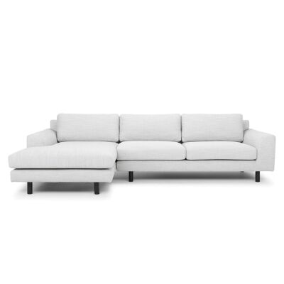 Sabo Fabric 2 Seater Corner Sofa with Left Hand Facing Chaise, Light Grey