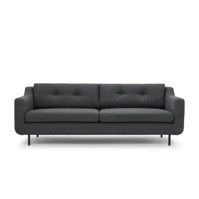 Saxen Fabric 3 Seater Sofa, Dark Grey
