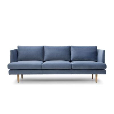 Mina Fabric 3 Seater Sofa, Dust Blue