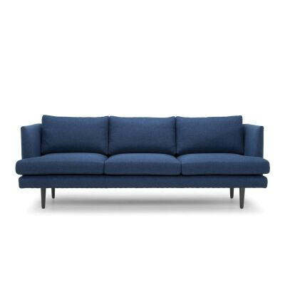 Mina Fabric Sofa, 3 Seater, Navy