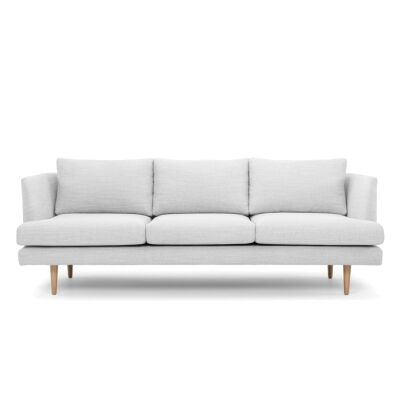 Mina Fabric 3 Seater Sofa, Light Grey