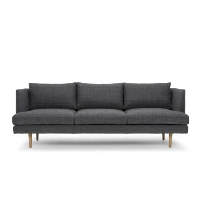 Mina Fabric 3 Seater Sofa, Dark Grey
