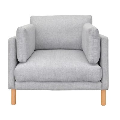 Frano Fabric Armchair, Light Grey