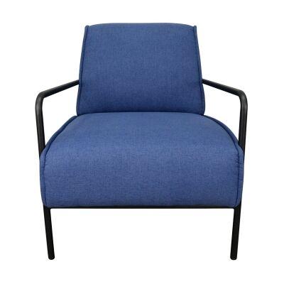 Bosco Fabric Lounge Armchair, Blue
