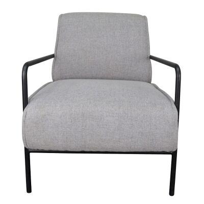 Bosco Fabric Lounge Armchair, Grey