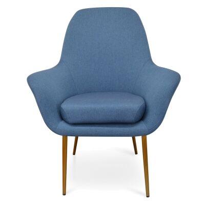 Dacia Fabric Lounge Armchair, Blue