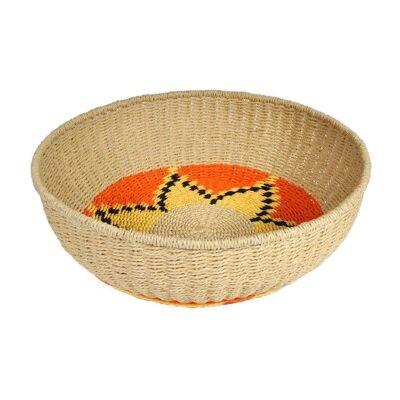 Prony Woven Paper Twine Round Basket