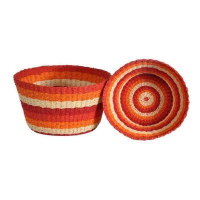 Farino 2 Piece Woven Paper Twine Basket Set, Red