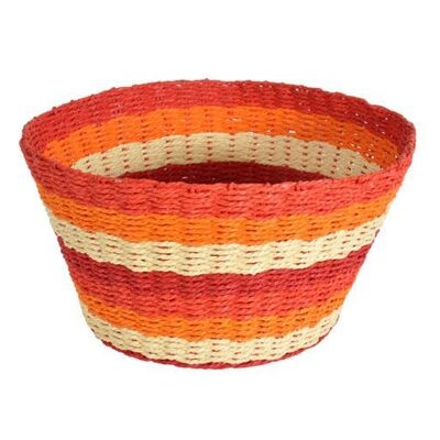 Farino Woven Paper Twine Basket, Red