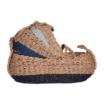 Humboldt 3 Piece Woven Jute & Paper Twine Oval Basket Set
