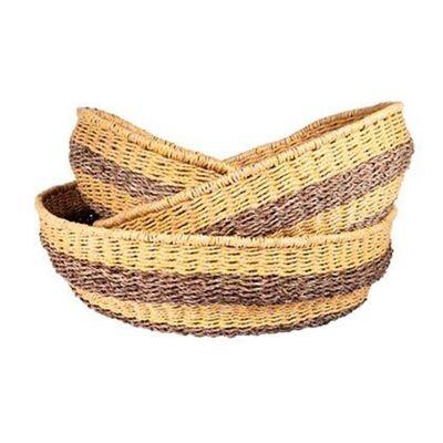 Bonde Woven Jute & Paper Twine Basket, Large