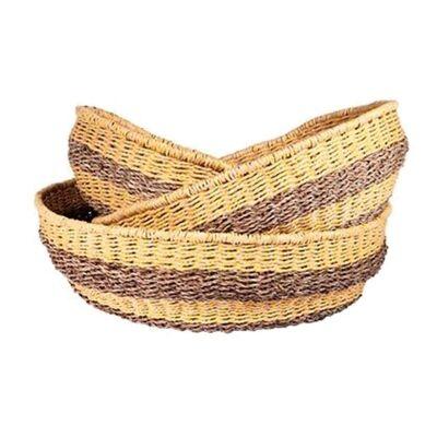 Bonde Woven Jute & Paper Twine Basket, Medium