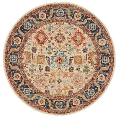 Legacy No.860 Bohemian Round Rug, 150cm, Dune