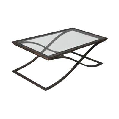 Leon Glass & Metal Coffee Table, 121cm