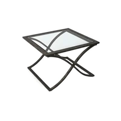 Leon Glass & Metal Lamp Table