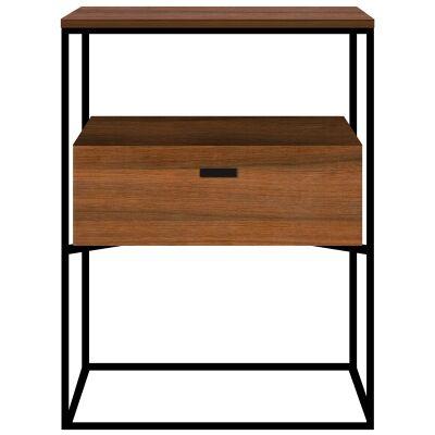 Leroy Wood & Metal Bedside Table