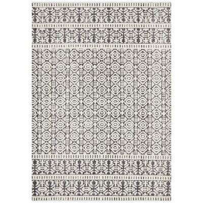 Levi Zorani Tribal Rug, 155x225cm, Black / Ivory