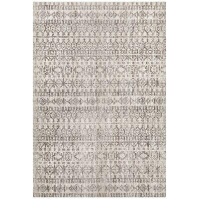 Levi Morgana Tribal Rug, 155x225cm, Grey / Natural