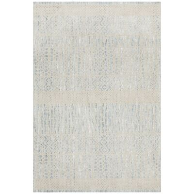 Levi Linden Tribal Rug, 225x155cm, Blue / Ivory