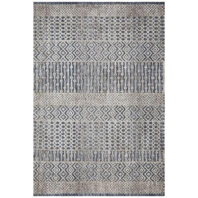 Levi Linden Tribal Rug, 155x225cm, Navy / Grey