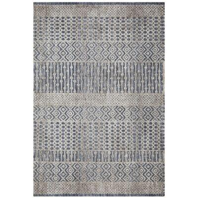 Levi Linden Tribal Rug, 280x190cm, Navy / Grey