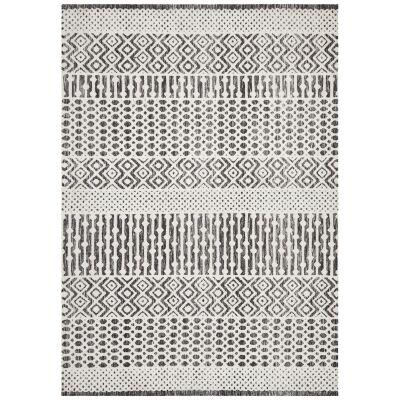 Levi Linden Tribal Rug, 225x155cm, Black / Ivory